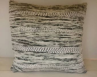 Marbled grey Cushion cover