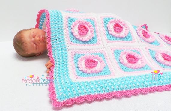 Cupcake Heart Blanket Crochet Pattern Crochet Baby Blanket
