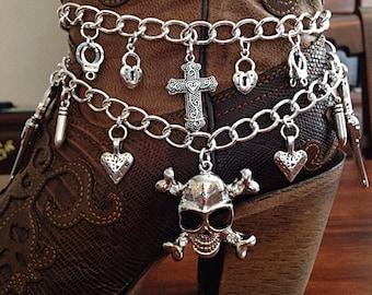Boot Jewelry, Boot Bracelet, Boot Bling, Boot Charm, Christian Bracelet, Cowgirl Boot Charm, Cowgirl Boot Bracelet