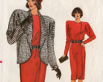 1986 Misses WRAP SKIRT JACKET Top Pattern Very Easy Very Vogue #9654 Size 8-10-12 Retro Fashions Vintage Sewing