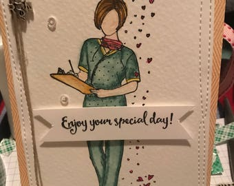 Nurse birthday card etsy nurse birthday card bookmarktalkfo Images