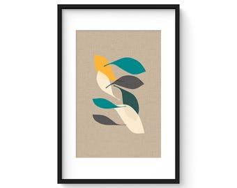 EBB no.9 - Giclee Print - Mid Century Modern Danish Abstract Modern