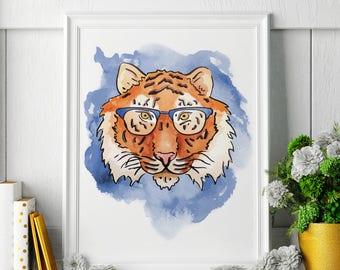 Tiger - Tiger Painting - Tiger Art - Tiger Painting - Tiger Print - Tiger Fine Art Print