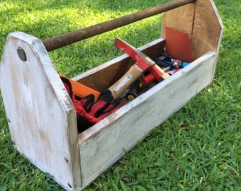 Wood Tool Box or Centerpiece Flower Display
