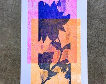 Abstract Wallpaper Flower Print