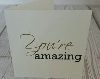 Mini card - You're amazing - blank card - small card - note card - anniversary - Birthday - Love you - Love note - romantic note - note