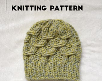 Knit Beanie PATTERN / The Atarah Beanie / Knit Pattern / Knitting Pattern / Hat Pattern / Instant Download Pattern / PDF