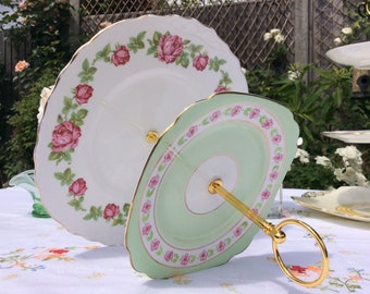 2 tier Floral Vintage cake stand, Royal Vale and Royal Standard macaron stand, a large cake stand for that special occasion