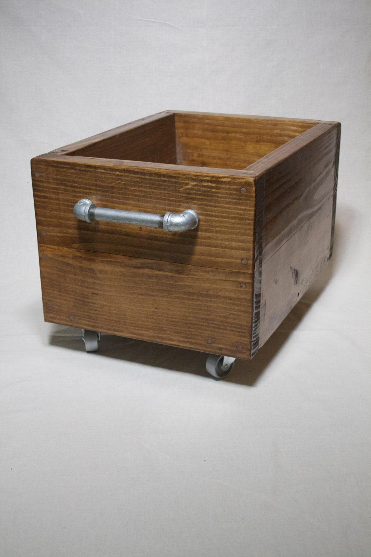 Well-liked Industrial Storage Box on Wheels Heavy Wood Storage Bin on HF92