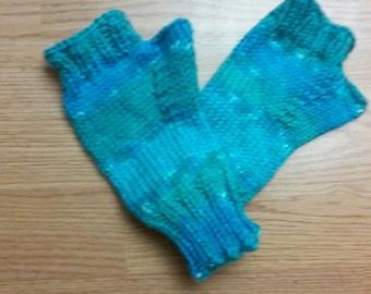 Teal Varigated Fingerless Gloves