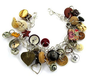 Mixed Button Bracelet FREE US Shipping