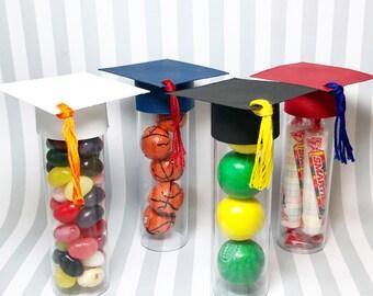 Graduation Favors - Graduation Cap Candy Tube, set of 10 - Candy Tubes - Party Favors - Graduation Party Decorations - Graduation Decor
