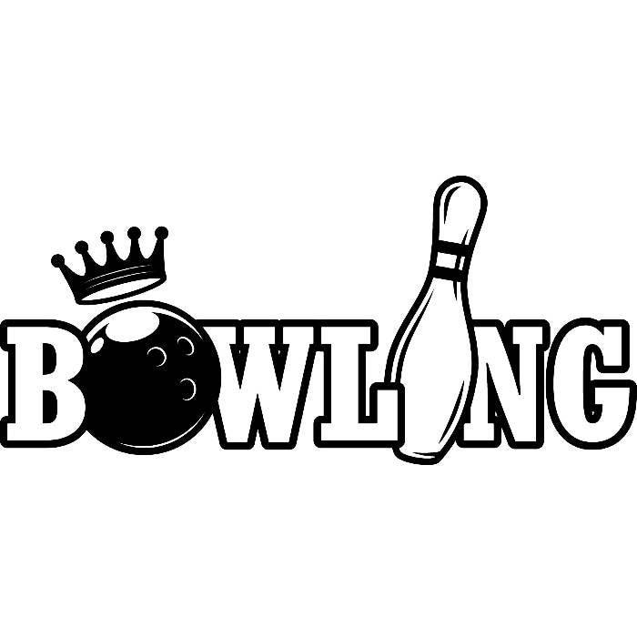 bowling logo  8 ball pin sports bowl game bowler alley