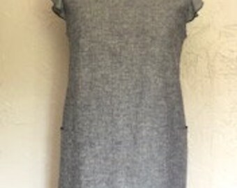 Hemp and Organic Cotton Grey/Blue Dress