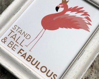 Fabulous Flamingo Art Print