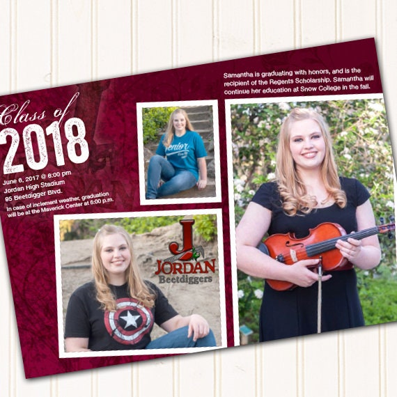 graduation invitations, maroon graduation invitations, college graduation announcements, doctorate graduation, graduation photo, IN562