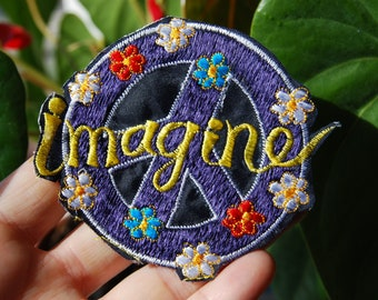IMAGINE Peace Patch Embroidered Embroidery for Clothing