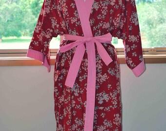 Kimono Robe Linen / cotton blend