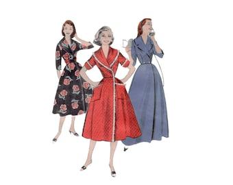 des années 50 modèle peignoir robe de chambre modèle vintage 34-26-36 ajustement et Flare Robe Robe de chambre sablier Butterick 8369