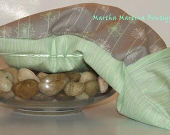 Ahhh-Maize-ing Corn Comfort Sak Multi Size Wrap 'Seafoam', Green, Gray, Floral, Microwave Corn Bag