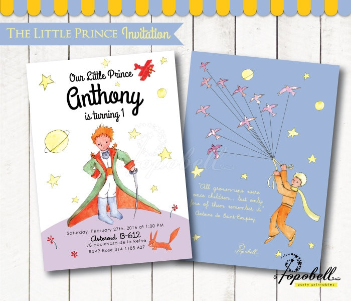 The Little Prince Invitation for The Little Prince birthday