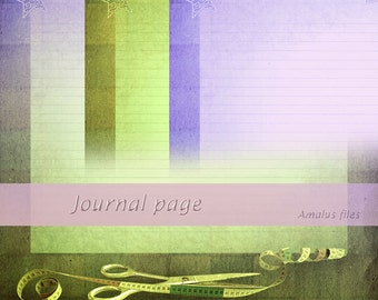 Scissors Printable Digital Journal Pages Backgrounds Letters