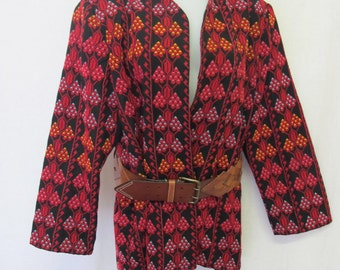 Embroidery Jacket Tapestry Coat  Boho Jacket XL