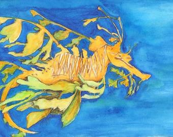 Leafy Seadragon Original Watercolor Painting