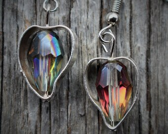 Genuine Sterling Silver Open Heart Earrings