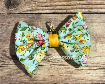 Fabric bows - Mint floral