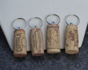 Wine Cork Key chains, Handmade Wine Cork Gift, Functional Key chain,Wedding Favors, Party Favors, Wine Gift, Wine, Cork, Wine Cork, Keychain