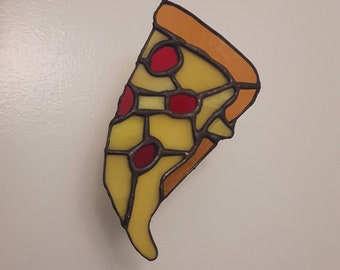 Stained glass pepperoni pizza