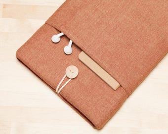 iPad Pro 12.9 case, iPad Pro 12.9 sleeve, 12.9 inch iPad Pro case,  iPad Pro cover - Chestnut