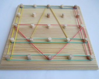 Geoboard, mathematical tablet or geometric