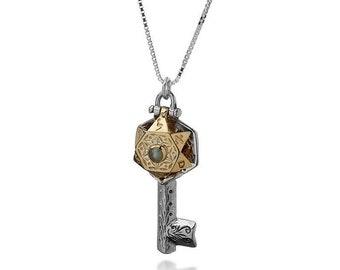 Key Pendant, Kabbalah Jewelry, Kabbalah Charm, Key Charm, Pendant Kabbalah, Women Charm, Success Pendant, Prosperity Charm, Key Necklace