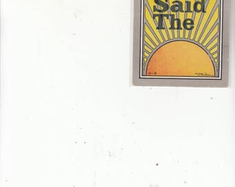 "PM 1918 Antique Postcard Series ""Rise Early Said The Sun"""