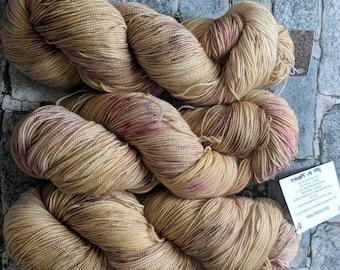 Yarn, Sock Yarn, Hand Dyed Yarn, Yellow Yarn,  Speckled Yarn, Superwash Merino Wool - Roses For Sophronia