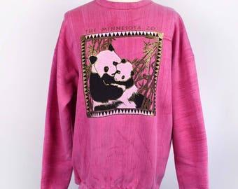 Hot Pink Minnesota Zoo Panda Sweatshirt || So CUTE!