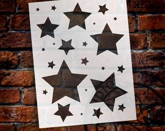 """Simple Stars - Art Stencil - 8.5"""" x 11""""  STCL 1255_1 by StudioR12"""