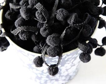 Black Pom Pom Trim