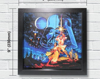 "Star Wars Layered Paper Cut Art ""A New Hope"""