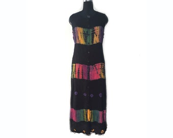 tie die viscouse bandani ''A'' line dress