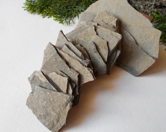 Garden Stones- set of 20 Flat Rocks- 1 to 5 inch- Mountain stone plates- rock plates- Beach Stone Supplies