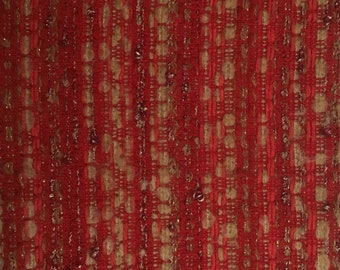 Tweed wool and polyester - 20x50cm piece