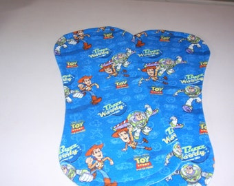 Toy Story Burp Cloths-Set of two