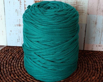 Turquoise T-shirt yarn, zpagetti yarn, jersey yarn, yarn for bags, fabric yarn for rug, home decor yarn, t-shirt yarn bracelet, tshirt yarn