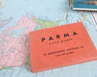 Block of souvenir postcards of the city of Parma-Italy of the years ' 50