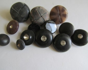 30s 40s Buttons Bakelite Buttons lot Collection of Buttons with Rhinestones Antique Buttons collecting old buttons