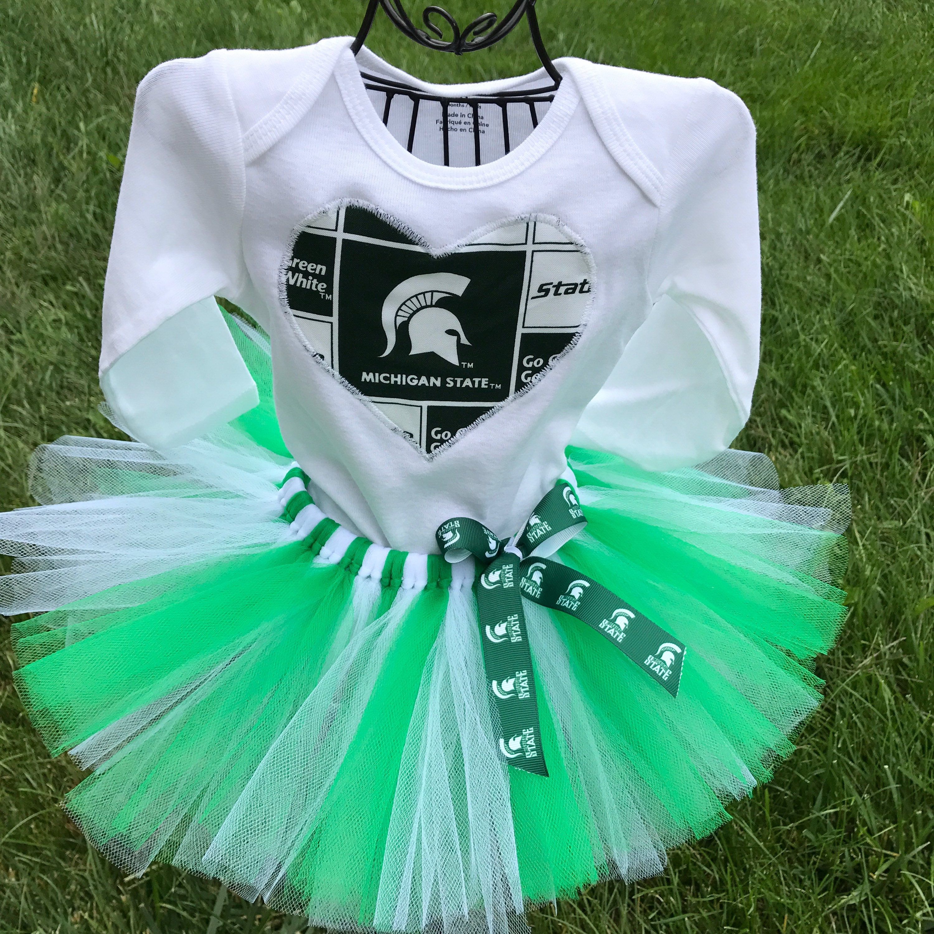 Michigan State Spartans tutu outfit Spartans football outfit