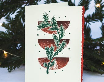 Graphic Bough Holiday Card